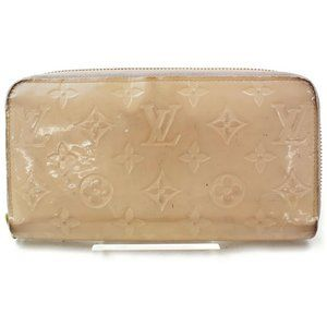Auth Louis Vuitton Zipper Vernis Beige #3265L74